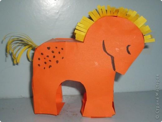 Лошадка своими рукам из бумаги