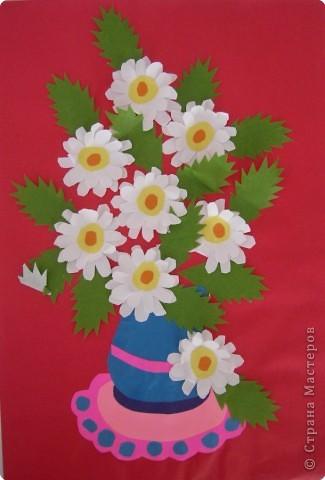 Аппликация букет с цветами