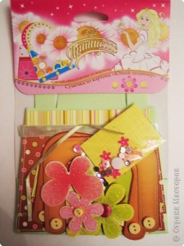 Вот такую сумочку сделали с дочкой из готового набора для творчества. фото 2