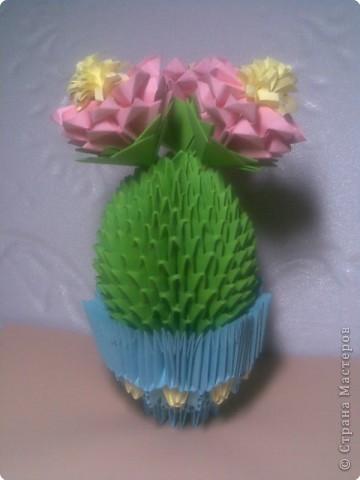 Оригами модульное: И у меня появился такой кактус