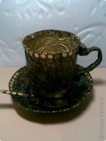 Папье-маше: Чайная пара фото 1