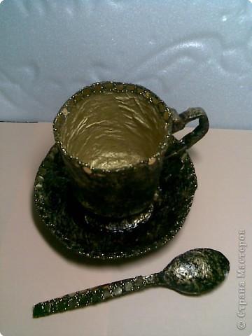 Папье-маше: Чайная пара фото 2