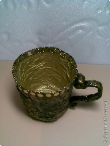 Папье-маше: Чайная пара фото 4