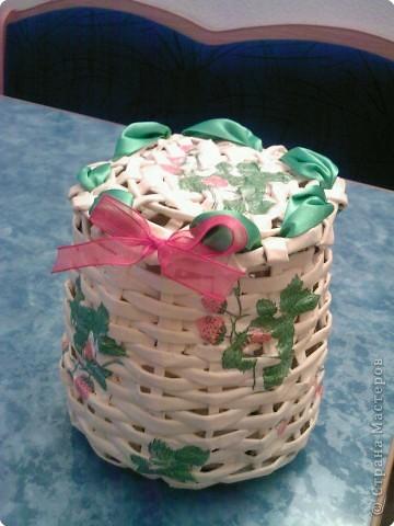 Плетение: Моя первая корзиночка из журнала