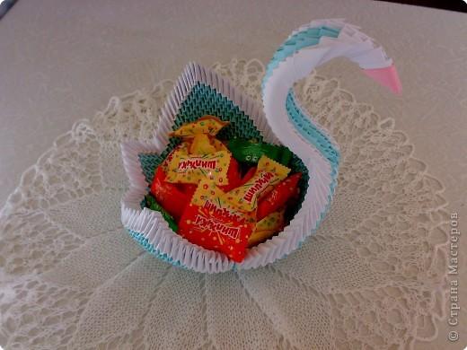 Оригами модульное: лебедь :) фото 3