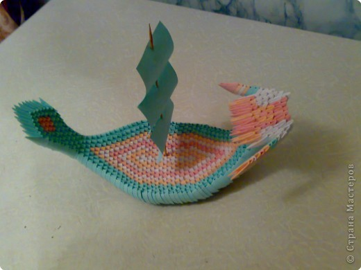 Оригами модульное: лодочка
