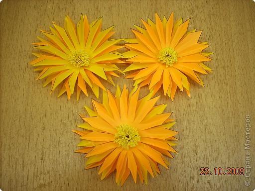 Просто влюбилась в эти цветы! Для Осеннего бала сделали их 10 штук. Девочки каждая сделали по цветочку и получился этот замечательный букет! фото 6