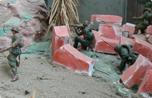 Поделки для мальчиков Фоторепортаж День Победы Моделирование конструирование Панорама младшего сына на военную тему  фото 8