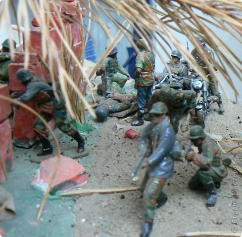 Поделки для мальчиков Фоторепортаж День Победы Моделирование конструирование Панорама младшего сына на военную тему  фото 3