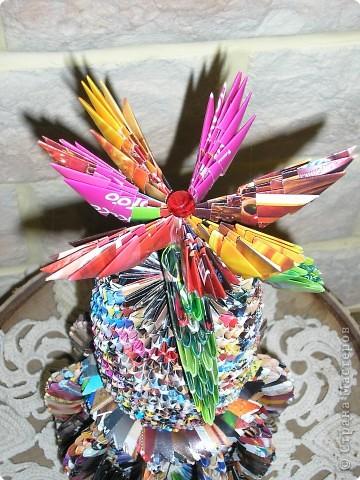 Оригами модульное: Ваза с цветком фото 2