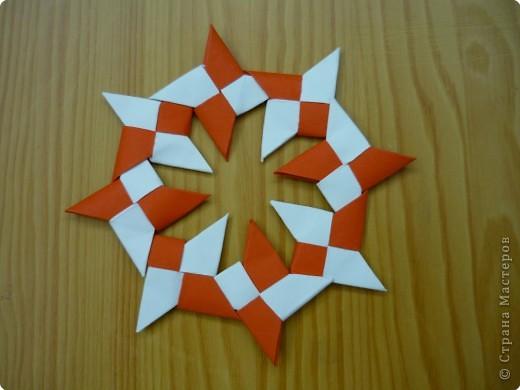 Оригами: Сюрикен и орнаменты из сюрикенов фото 4