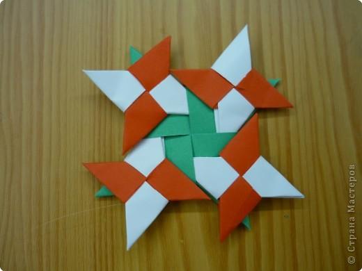 Оригами: Сюрикен и орнаменты из сюрикенов фото 5