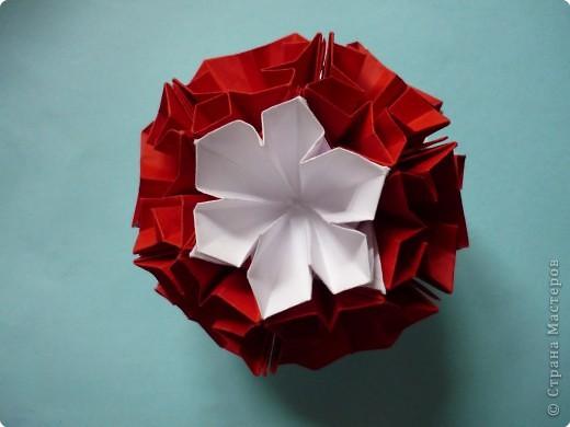 Кусудама: Красное и белое фото 1