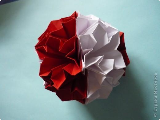 Кусудама: Красное и белое фото 5