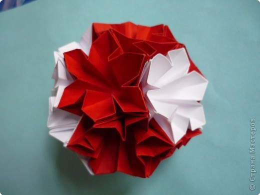 Кусудама: Красное и белое фото 4