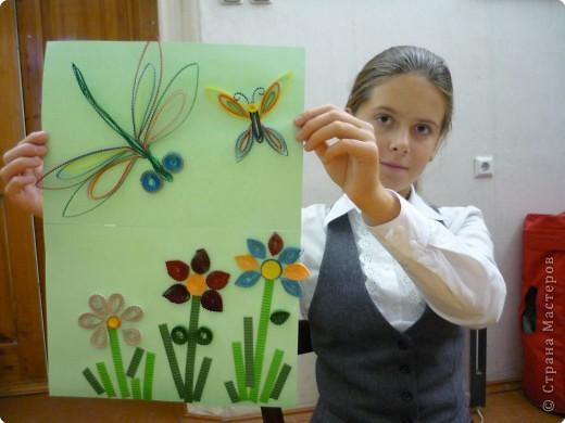 Стромцова Лера(5 класс) занимается квиллингом, оригами и бумагопластикой уже третий год.