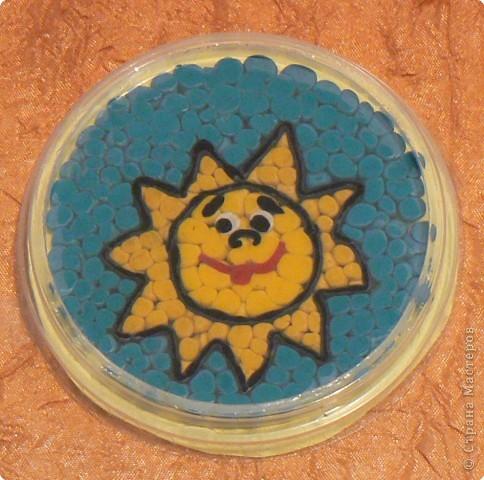 Аппликация из пластилина (+ обратная): Пластилиновое солнце.