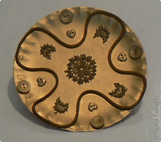 Аппликация: Декоративная тарелочка
