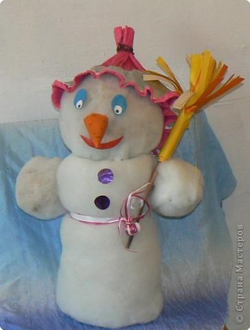 Снеговик высотой ок 60 см. фото 2
