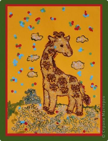 """""""Московский забияка Бандит-Хотабыч"""". Кота нарисовали краской, потом вырезали и перенесли на другой лист, сделали ему хвостик, ушки и шикарную бороду :О) А нос и глаза - пластилиновые. фото 2"""