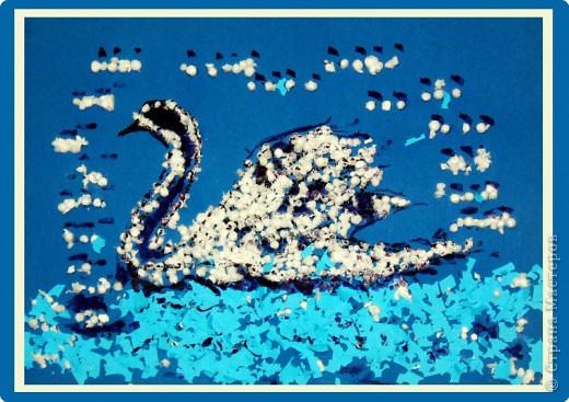 """""""Московский забияка Бандит-Хотабыч"""". Кота нарисовали краской, потом вырезали и перенесли на другой лист, сделали ему хвостик, ушки и шикарную бороду :О) А нос и глаза - пластилиновые. фото 3"""