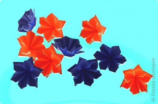 """Перед вами рецепт очередного модуля очередной цветочной кусудамы. Кусудаму эту нашла в книге С.Соколовой """"Бумажные орнаменты, звезды, гирлянды...""""  фото 1"""
