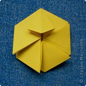 """Перед вами рецепт очередного модуля очередной цветочной кусудамы. Кусудаму эту нашла в книге С.Соколовой """"Бумажные орнаменты, звезды, гирлянды...""""  фото 10"""
