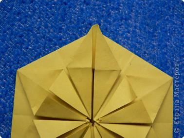 """Перед вами рецепт очередного модуля очередной цветочной кусудамы. Кусудаму эту нашла в книге С.Соколовой """"Бумажные орнаменты, звезды, гирлянды...""""  фото 14"""