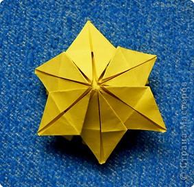 """Перед вами рецепт очередного модуля очередной цветочной кусудамы. Кусудаму эту нашла в книге С.Соколовой """"Бумажные орнаменты, звезды, гирлянды...""""  фото 21"""