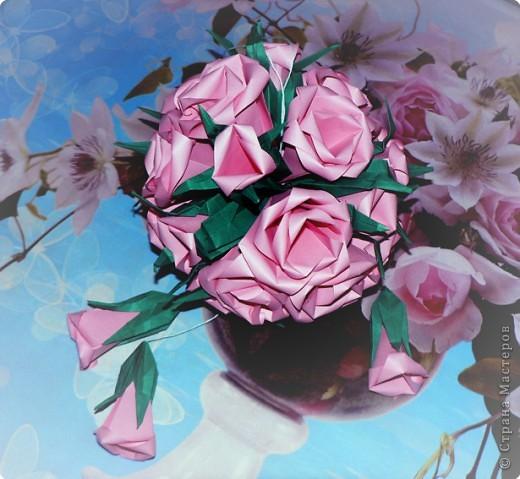 Кусудама, Оригами: Розовый шар фото 2