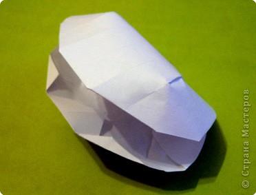 Красивая детская модель «Ракушка». Моя племяшка наделала себе десяток таких «сокровищниц». А можно как упаковку для маленького подарка использовать… или как украшение в морскую тему… фото 12