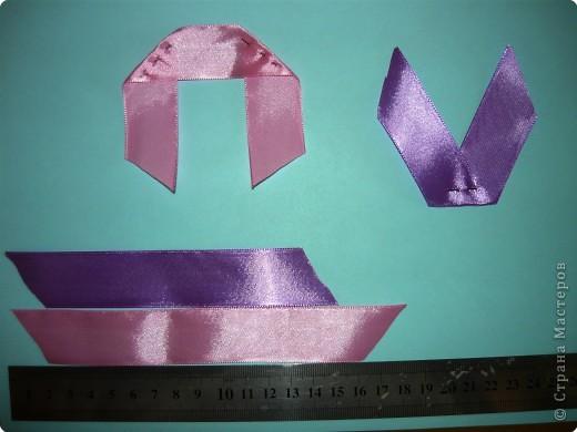 Картина панно рисунок Вышивка Анютины глазки  МК             Ленты фото 2