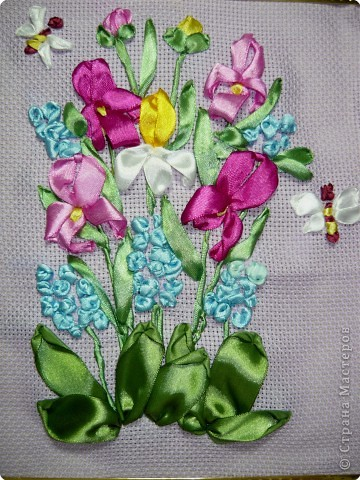 Вышивка: Первоцветы