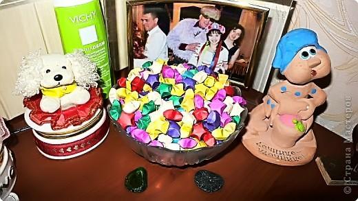 Мои звездочки счастья =) не много под декорировали их шелком =))) фото 3