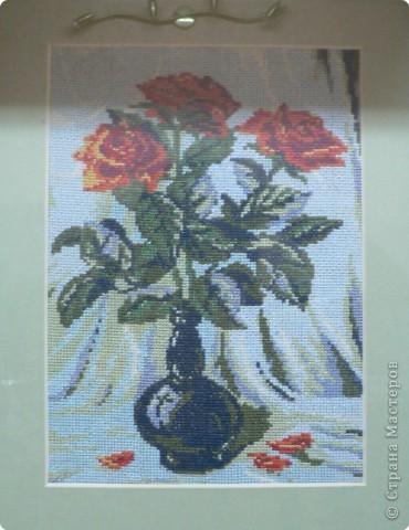 Вышивка крестом: Розы