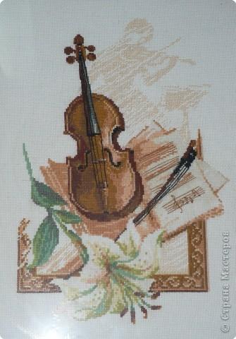 Вышивка крестом: Скрипка
