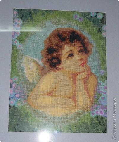 Вышивка крестом: Ангел - картина-ровестница Саньки