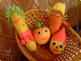 """В детском саду ярмарка, мастерили вместе с внучкой. Всем было весело! Только лимон всегда с """"кислой"""" физиономией..."""