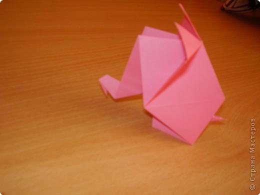 Оригами: розовый слон