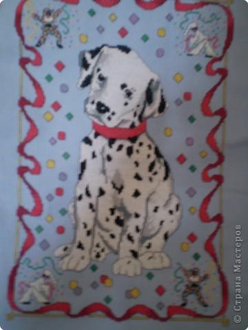 Вышивка крестом: щенки в корзинке фото 2