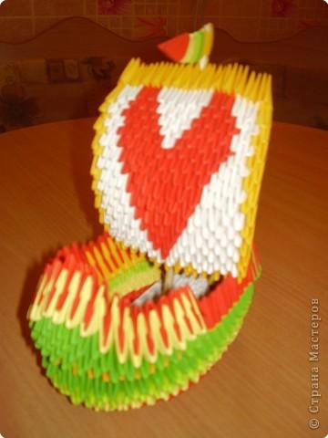 Оригами модульное: а у нас корабль любви!