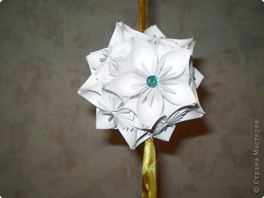 Кусудама: первые кусудамы, пока что из белой бумаги фото 1