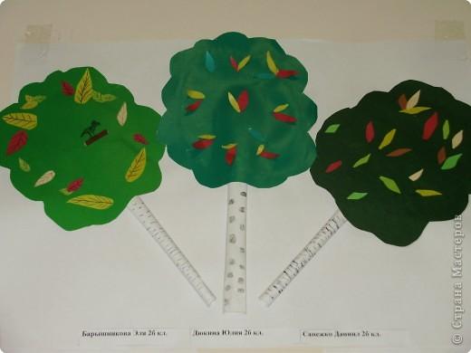 Аппликация: Осенняя береза. фото 2