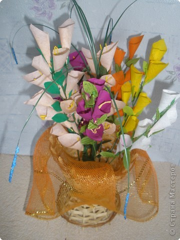 Бумагопластика: Цветочные фантазии фото 11