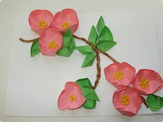 Оригами: Яблоня в цвету