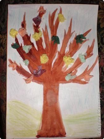 Аппликация: Деревья осенью