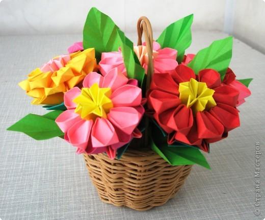 Оригами модульное: Цветочное настроение фото 3