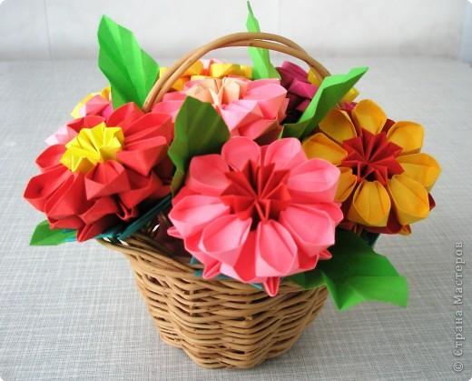 Оригами модульное: Цветочное настроение фото 4