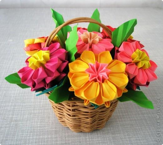 Оригами модульное: Цветочное настроение фото 1