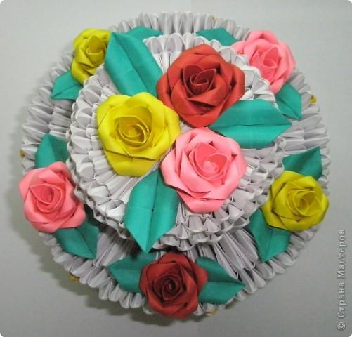 Оригами модульное: Приготовила тортик! фото 3